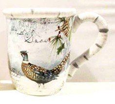 Winter Woodland Pheasant Coffee Cup Mug - $16.98