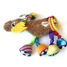 Lamaze Play And Grow Mortimer Moose Take Along Toy Rattle Baby Plush - $7.91