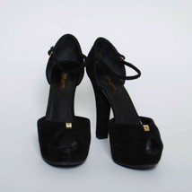 Louis Vuitton High Heels Sandals Black Suede Pumps Platform Shoes Sz US 8 EU 39 - $636.64