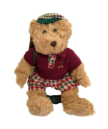 "Russ Berrie Chip Golfing Teddy Bear Plush 8"" Vintage Stuffed Animal Polo Toy - $21.73"