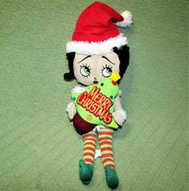 """16"""" Betty Boop Plush Christmas Elf Stuffed Doll Sugar Loaf 2013 Santa Hat Plush - $17.82"""