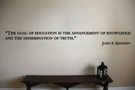 John F. Kennedy Inspirational Classroom Quote Vinyl Wall Sticker Decal (b) - $14.99+