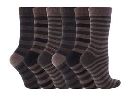 6 Pares Mujer Jennifer Anderton Calcetines Térmicos Talla 4-7 Gb Banda Tonal - $17.80