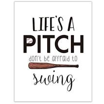 Life's a Pitch Baseball Software Home Decor Wall Art - $18.32