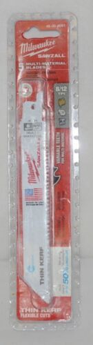 Milwaukee 48004091 Sawzall Blade 5 Pack Multi Material Blades