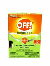 OFF! Botanicals Plant-Based Deet Free Insect Repellent Towelettes 10-Count NEW image 8