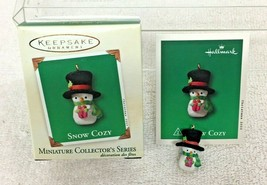 2003 Snow Cozy #2 Miniature Hallmark Christmas Tree Ornament MIB Price Tag - $9.41
