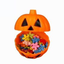 Pumpkin Box Halloween Candy Storage Bottle Ghost Can Bin Holder Sweet Gi... - £9.14 GBP