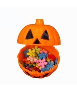 Pumpkin Box Halloween Candy Storage Bottle Ghost Can Bin Holder Sweet Gi... - $11.85