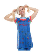 Faux Real Chucky Doll Childs Play Dress Adult Womens Halloween Costume F... - $33.98