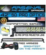 "No.1 5D 40"" Pro Optics Arsenal Offroad LED Light Bar New 2018 Design Flo... - $115.78"