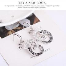 Women Wedding Bridal Jewelry Set Rhinestone Necklace Earrings HIGH QUALITY image 4
