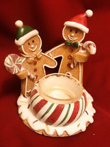 Yankee Candle GINGERBREAD TEALIGHT HOLDER CANDYCANE CHRISTMAS - $10.40