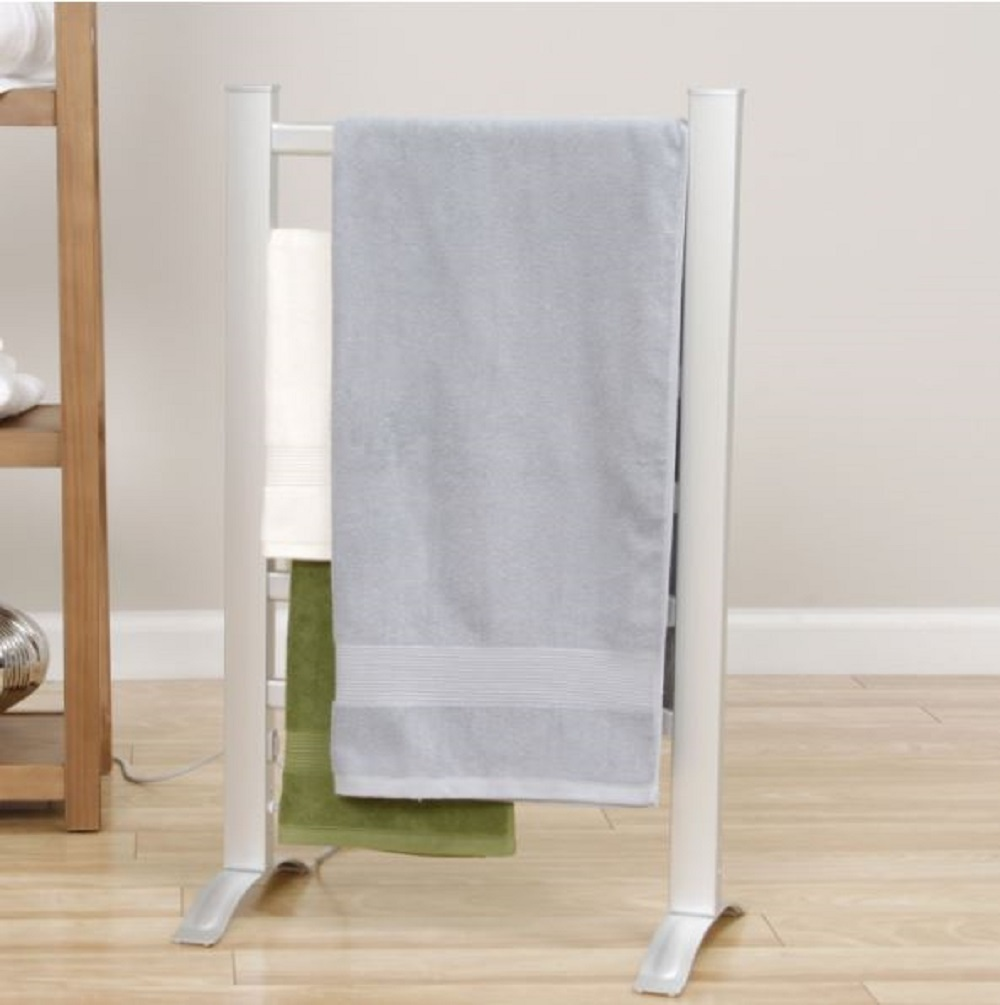Electric towel warming rack