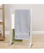 Heated Towel Warmer Drying Rack Electric Freestanding Bathroom Shower Bl... - $113.49