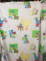 marlborough Sesame Street twin fitted sheet made in USA no iron mi18 - $14.70