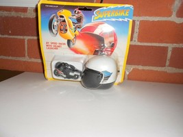 Vintage Superbike Jet Speed Racer With Helmet Launcer New Vintage NIP - $17.42