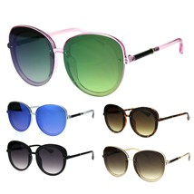 Womens Expose Lens Edge Panel Lens Round Luxury Butterfly Sunglasses - $12.95