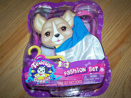 Teacup Doggies Dog Fashion Set Clothes Blue White Jacket Top Collar Hang... - $9.00