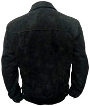 Men Rip Wheeler Yellowstone Cowboy Cole Hauser Black Jacket Suede Leather/Cotton image 4