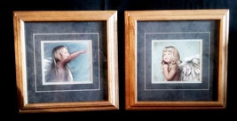 Pair of Nancy Noel Angel Girl Prints Professionally Framed  - $20.00