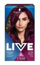 Schwarzkopf Live Colour + LIFT 3 levels Hair Dye ULTRA VIOLET Purple Permanent  - $13.97