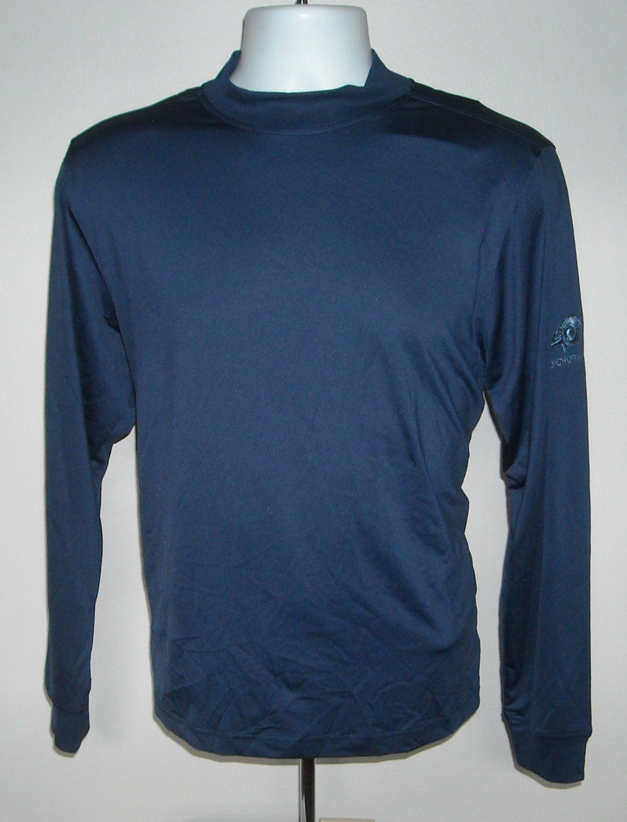 Primary image for Mens Monterey Club Bighorn Golf Scotchgard Sport Shirt Large Blue Moisture Wick
