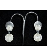 French Depose Sculpted Earrings C1960s - $5.00