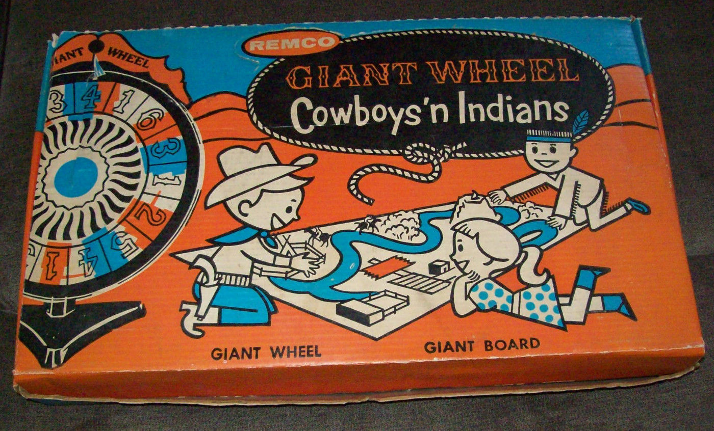 1958 VINTAGE REMCO GIANT WHEEL COWBOYS 'N INDIANS In Original Box