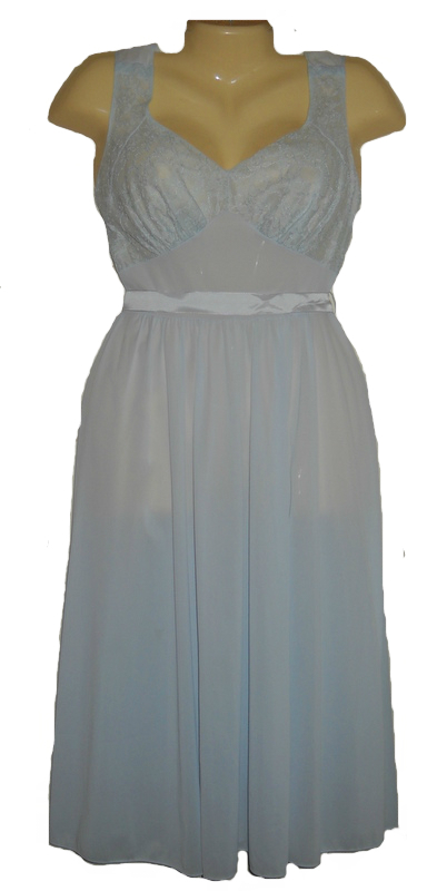 Vanity fair vintage blue night gown 60s