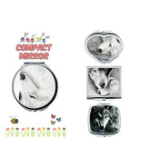 Wolf makeup mirror compact mirror purse mirror travel mirror - $11.99
