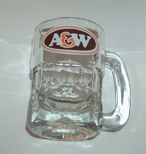 A&W Root Beer Baby Mug with Brown Oval Logo