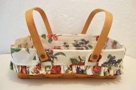 Longaberger 1998 Signed Hostess Basket Plastic Protector Fruit Pattern L... - $88.36