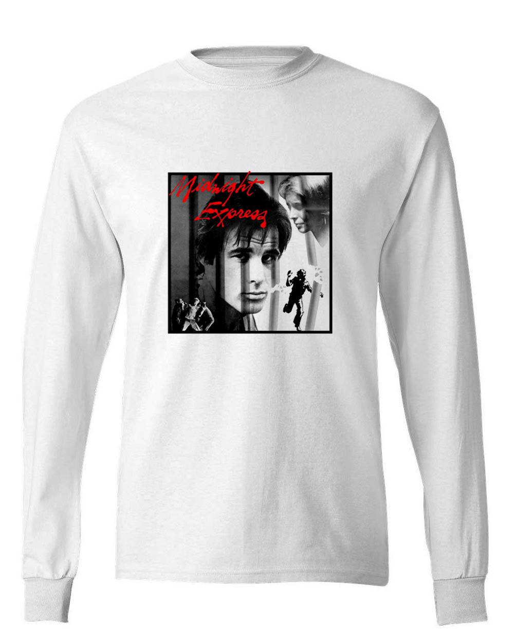 Midnight express tee shirt retro 70 s movie t shirt graphic long sleeve