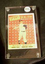 1958 Mickey Mantle Baseball Trading Card # 487 AA 19-BTC4003 Vintage Collectible image 9