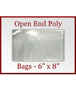 100 Open End Flat Poly Bags 6 x 8 inches USDA F... - $9.98