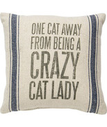 One Cat Away from being a Deranged Cat Lady  Pillow Primitives by Kathy ... - $18.75