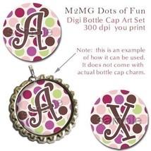 M2MG Dots of Fun Bottle Cap Digital Image 1 Inch Circle Alphabet Alpha P... - $2.00