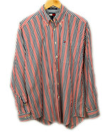 Vintage Tommy Hilfiger 100% Cotton Striped Button Front Shirt - Size M - $25.17