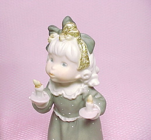1997 Kim Anderson Figurine You Light Up My Life Enesco Porcelain Bisque Girl New