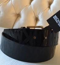 Michael Kors Women's Patent lLeather Gold buckle Logo Belt Retails $48 NWT - £30.24 GBP