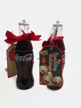 Coca-Cola Kurt S. Adler Bottle with Gift Tag Holiday Christmas Ornament ... - $11.39