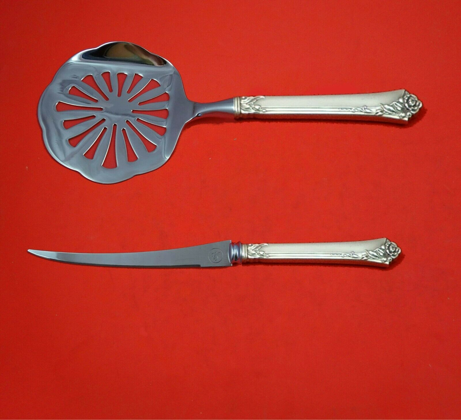 Primary image for Damask Rose by Oneida Sterling Silver Tomato Serving Set 2-Piece Custom Made