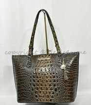 NWT Brahmin Medium Asher Embossed Leather Tote/Shoulder Bag in Chicory Melbourne image 6