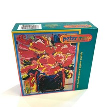 """PETER MAX """"BOUQUET"""" ONE HUNDRED PIECE JIGSAW PUZZLE BRAND NEW SEALED IN ... - $265.50"""