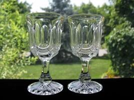 Antique Eapg Galloway/Virginia Wine Stems - Pair - $22.00