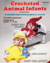 CROCHETED ANIMAL INFANTS BY SUE PENROD - $4.00