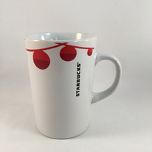 2012 Starbucks Holiday Coffee Mug Christmas Red Ornaments 10.8 Fl Oz - $12.86