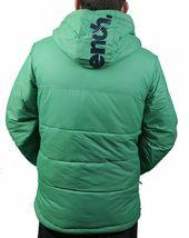Bench UK Mens Hollis Zip Up Green Hooded Puffy Winter Jacket Coat NWT image 3