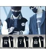 EXO Overdose Baseball Uniform Xiumin Baekhyun Chanyeol Varsity Jacket Coat - $16.99